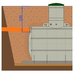 Konstrukční úpravy Žumpa 9 m³ - KÚ HARD pro hloubku nátoku do 1,1 m