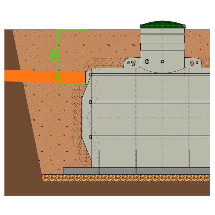 Konstrukční úpravy Septik 5 - KÚ HARD pro hloubku nátoku do 0,8 m