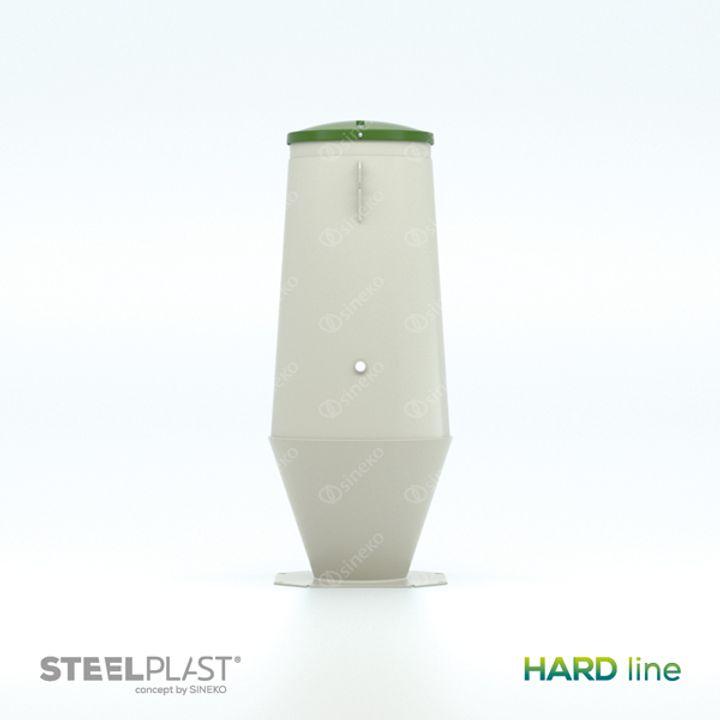 Čerpací jímka DOUBLEKON® 8/20 HARD line - do sucha - s vystrojením do tlakové kanalizace